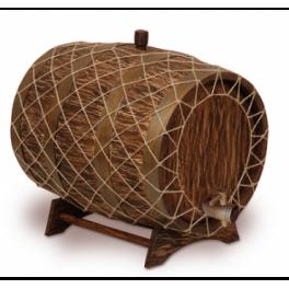 Бочка с краном под старину 25 л Премиум (кавказский дуб)