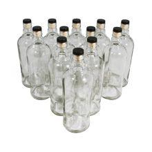 Комплект бутылок «Абсолют» с пробкой 1 л (12 шт.)