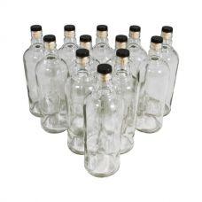 Комплект бутылок «Абсолют» с пробкой 1 л (12 шт.) в Абакане