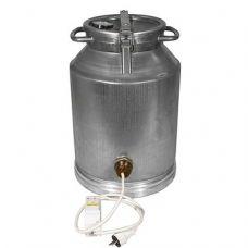 Фляга алюминиевая 40 л с термометром (ТЭН 3 кВт)