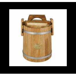 Кадка дубовая 10 л «бонпос» для засолки (обручи из нерж. стали)