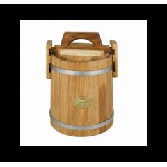 Кадка дубовая для засолки 5 л «Бонпос» (обручи из нерж. стали)