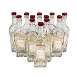 Комплект стеклянных бутылок «Сибирь» с крышкой 0,5 л (12 шт.)