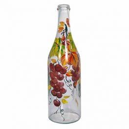 Стеклянная бутылка 1 л «Виноград» с ручной росписью