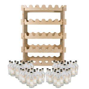Винная полка (стеллаж)  + комплект бутылок «Аляска» (48 шт.)