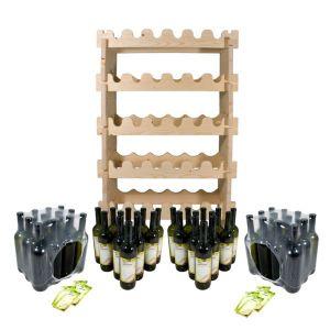 Винная полка (стеллаж) + комплект бутылок «Тоскана» (48 шт.)