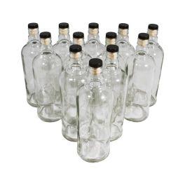 Комплект стеклянных бутылок «Абсолют» с пробкой 0,5 л (12 шт.)